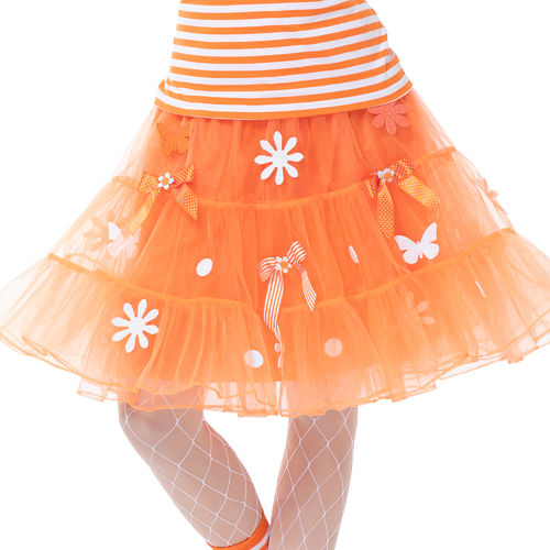 Petticoat Nippes, orange-weiß