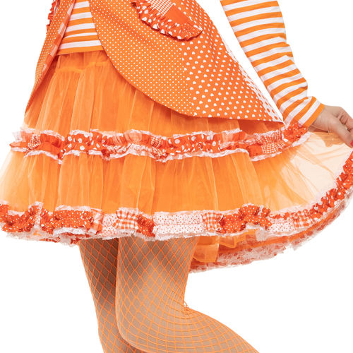Petticoat Patchwork, orange-weiß